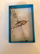 "Ichthyosaurus PJ/IP kilt pin Scarf or Brooch pin pewter emblem 3"" 7.5 cm"
