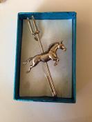 """Horse WLHORKR kilt pin Scarf or Brooch pin pewter emblem 3"""" 7.5 cm"""