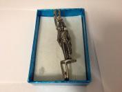 "Cavalry Officer kilt pin Scarf or Brooch pin pewter emblem 3"" 7.5 cm"