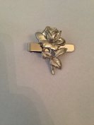 Rose PP-G02 English Pewter emblem on a Tie Clip 4cm long