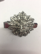 Green Man PP-G76 English Pewter emblem on a Tie Clip 4cm long