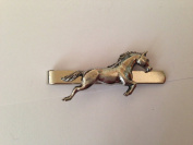 Horse WLHORKR English Pewter emblem on a Tie Clip