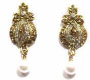Shingar Jewellery Ksvk Jewels Women's Cubic Zirconia Earrings Danglers Brown