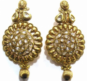 Shingar Jewellery Ksvk Jewels Women's Brass Dangle & Drop Earrings Gold Pearl