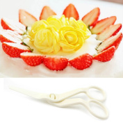 DDU(TM) 1Pc Delicate Plastic Scissor Flower Lifter Sugar Craft Cake Modelling Tool