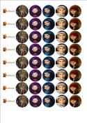 48 x Descendants fairy cake toppers printed on icing