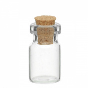 Mini Glass Bottles Vials With Corks for Message Weddings Wish Jewellery Party Favours 10pcs