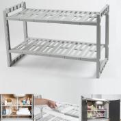 Under Sink 48-85 cm Expandable Caddy Rack Storage Organiser Shelf Unit Adjustable Shelves Cabinet