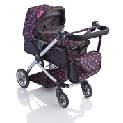 Molly Dolly Babyboo Deluxe 2 in 1 Doll Stroller/Pram