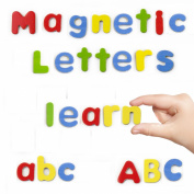 Vortigern #51021 - 52 Wooden Magnetic Fridge Lower/Upper Case Alphabet Letters Learning Toy