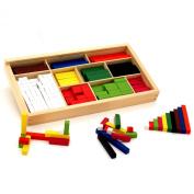 Viga Wooden Maths Rods Set