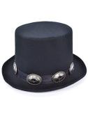 80s Rocker Slash Style Black Top Hat