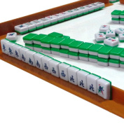 Mini 144 Mahjong Tile with Chinese Characters Play Set for Travel, Portable Size and Light-weight