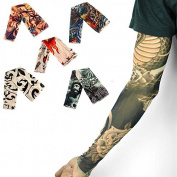 TR.OD Brand New Man Boy Fake Body Temporary Tattoo Sleeves Arm Leg Stocking