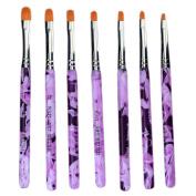 fitTek 7 Pcs Nail Art Painting Draw Brush Dotting Pen Tools Decoration for UV Gel DIY
