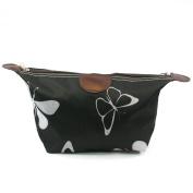 Black & White BUTTERFLY Design Print Lightweight Holiday / Weekend WASH BAG / Make-up Bag / Compact Toilet Bag