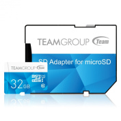 Team Group 32 GB Colour MicroSDHC Memory Card with Adapter - Blue