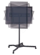 Cablematic - Support stand with wheels to screen 80cm - 110cm