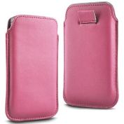 N4U Online® - Microsoft Lumia 640 Premium PU Leather Pull Flip Tab Case Cover Pouch - Baby Pink