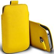 Digi Pig - Doro Liberto 820 Mini Colour PU Leather Pull Tab Case Cover Pouch - Yellow