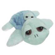 Mummy & Baby Blue Turtle Soft Baby Toy Beanie & Squeaker