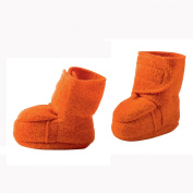 Disana Organic Boiled Wool Booties / Slippers -Orange-8-12m