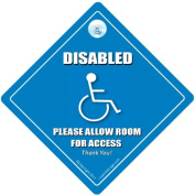 Disabled Please Leave Room For Access Car Sign, Disabled Car Sign, Disabled Driver Car Sign, Disability Car Sign, Mobility Car Sign, baby on board, Disabled Sticker, Wheelchair User Car Sign