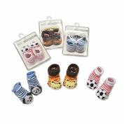 nursery time 3d rattle baby socks 3 variants one supplied boys