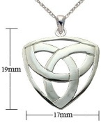 Silver Pendant & Earrings set - Celtic - Comes with 5.5m silver link chain. Beautifully designed and hand polished to a very high jewellery standard, this Celtic Pendant set makes a wonderful gift