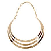 Women's Exaggerated 3 Layers Semi-Circle Chain Statement Choker Necklace