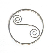 Sterling Silver Celtic Swirl Scarf Ring