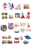 37 Stand Up In The Night Garden Characters Edible Premium Wafer Paper Cake Toppers