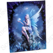 Star Gazer - A Gothic Fairy on Rock - Fantastic Design by Artist Anne Stokes - Canvas Picture on Frame Wall Plaque / Wall Art