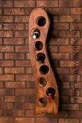 New real wooden wine rack / cabinet, 8 bottles Rook 8 calvados hanging, kitchen / bar