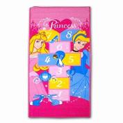Childrens Disney Princess Pink Hopscotch Bedroom Playroom Play Mat Rug 67x140cm