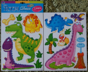 DINOSAURS DINO Childrens Wall Stickers for Boys & Girls Bedroom, Childrens Playroom & Babies Nursery