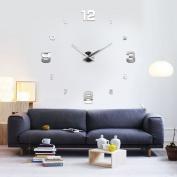 MAX3D Large Mirror Wall Clock DIY Ø 130cm XXL Design Large Wall Clock