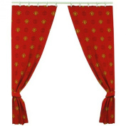 Manchester United FC 170cm x 180cm Drop Polycotton Curtains Ready Made