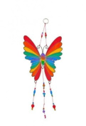 Rainbow Butterfly Stained Glass Effect Suncatcher - Beautiful Window Hanging Gift - Home Decoration