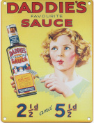 DADDIE'S SAUCE Metal Advertising Sign