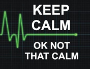 MOUSE MAT KEEP CALM OK NOT THAT CALM FUNNY QUALITY FUN MOUSE MAT