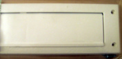 EASYFIX DRAUGHT EXCLUDER /LETTERBOX SEAL WITH FLAP & FIXINGS-DE705- WHITE
