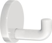 Hewi Heinrich Wilke 477 477.90.045 99 Wall Hooks (65 mm Outreach, Rosette Diameter 60 mm) Pure White
