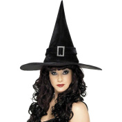 Smiffy's Witch Hat with Diamonte Buckle