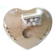 Toco security door harp large heart-shaped 712-2114
