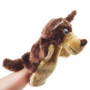Homgaty Dark Brown Long-haired Wolf Animal Hand Puppets The Perfect Birthday, Christmas Gift