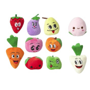 Homgaty 10 Pcs Fruits and vegetables Set Finger Puppets Story Telling Nursery Fairy Tale The Perfect Birthday, Christmas Gift