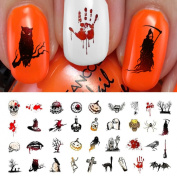 Halloween Nail Decals Assortment #4 - WaterSlide Nail Art Decals - Salon Quality!
