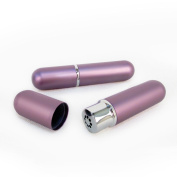 Purple Aluminium and Glass Empty Essential Oil Personal Nasal Inhaler Refillable With Removable Bottle by Rivertree Life
