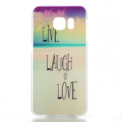 Sannysis New Live Laugh Love PC Hard Case Cover Skin For for Samsung Galaxy S6 Edge
